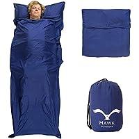 H/üttenschlafsack Inlett Doppelpack ultraleichter Schlafsack Kunst- Seidenschlafsack im 2er Pack Sommerschlafsack Silkrafox