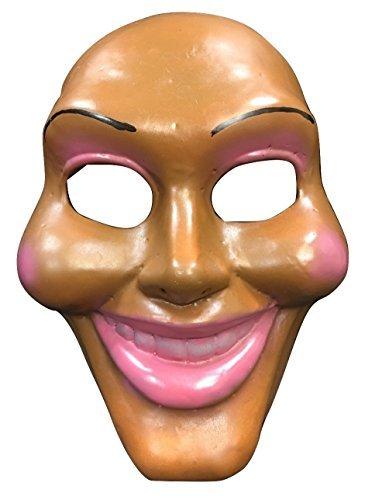 The Purge Original Gesicht Deluxe Halloween Cosplay Glasfaser Film Maske Universalgröße mit verstellbar Schnalle Riemen (Halloween Purge-maske)