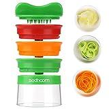 Sedhoom Spiralschneider Hand für Gemüsespaghetti, 3-Klingen Gemüseschneider für Karotte, Gurke, Kartoffel, Kürbis, Zucchini(MEHRWEG)