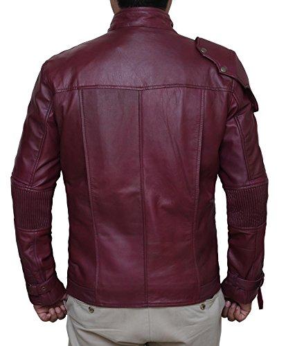 Galaxy of Guardian Red Leather Jacket - Galaxy of Guardian Veste en cuir rouge Rouge
