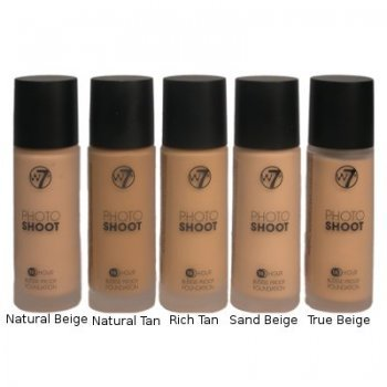 W7 Photo Shoot 16 Hour Budge Proof Foundation - Sand Beige