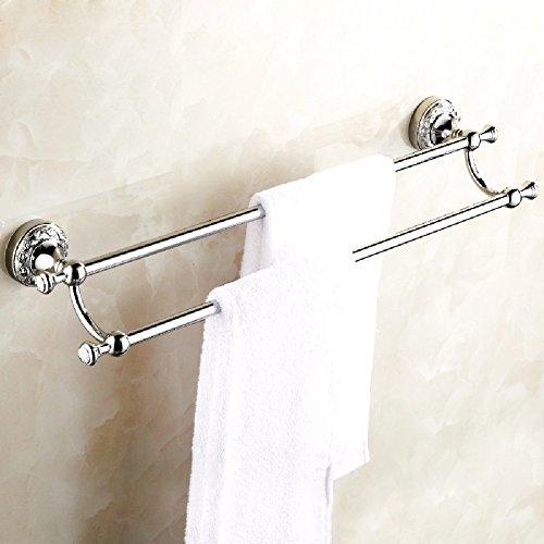 ZHGI Asciugamano di antiquariato bar double-wide pastorale continentale ottone portasciugamani accessori bagno