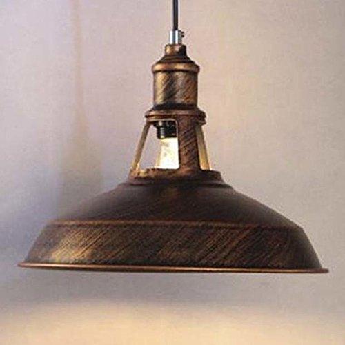 Retro-bronze-kronleuchter (BAYCHEER Vintage Pendellaeuchte Hängelampe Industrie Kronleuchter Deckenlampe E27 Fassung für Wandelgang Balkon Restaurant Küche Esszimmer Kinderzimmer (Bronze))