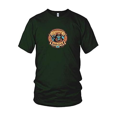 LeChuck's Grog - Herren T-Shirt, Größe: XL, Farbe: dunkelgrün
