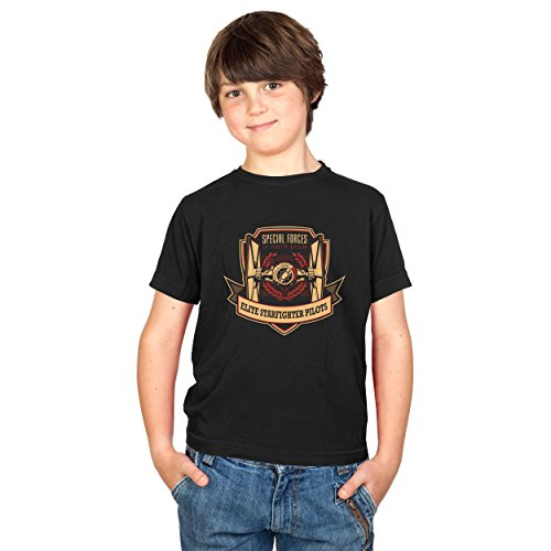 Texlab Elite Starfighter Pilots - Kinder T-Shirt, Größe XS, Schwarz -