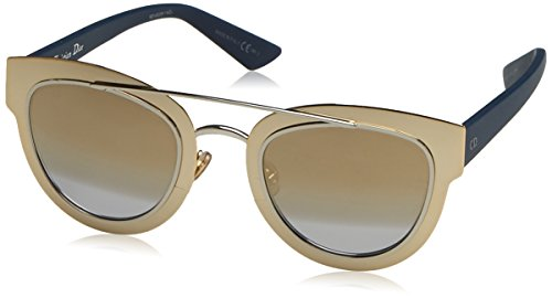 Dior Damen DIORCHROMIC 9F LML Sonnenbrille, Gold Palladium Blue/Lt Grey Gdvsp Sf, 47