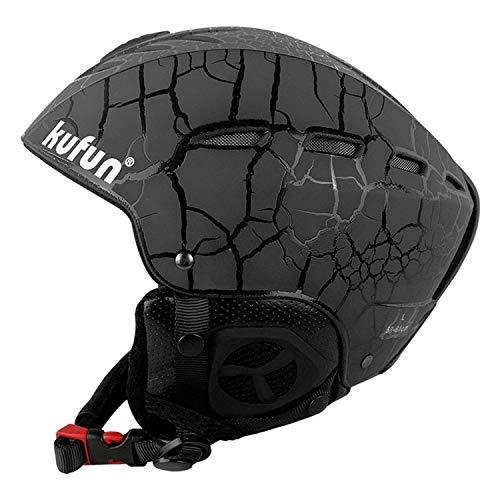 AQUYY Skihelm, Männlicher Und Weiblicher Erwachsener Leichter Doppelter Furnier-Helm-Ski-Sportschutzausrüstung Ausgerüstet Mit Schneehelm