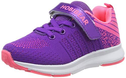 Hallenschuhe Kinder Turnschuhe Jungen Sport Schuhe Mädchen Kinderschuhe Sneaker Outdoor Laufschuhe für Unisex-Kinder Violett,32 EU=33 CN