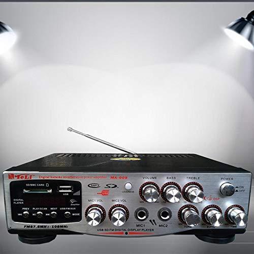 TrAdE Shop Traesio - Amplificatore Digitale per Karaoke Mixer Audio USB RCA SD MP3 Professionale DJ's