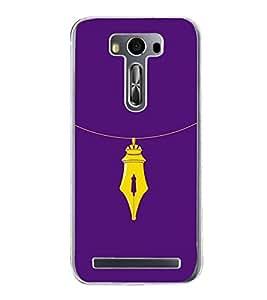 Nib Necklace 2D Hard Polycarbonate Designer Back Case Cover for Asus Zenfone 2 Laser ZE500KL (5 INCHES)