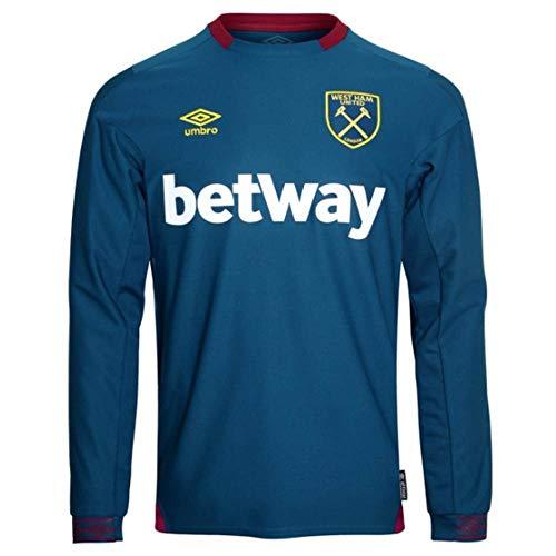 Umbro 2018-2019 West Ham Long Sleeve Away Football Shirt