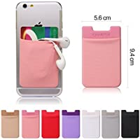 CHARITIK 3M Adhesive Card Pouch Wallet Karte Beutel für iPhone 6, iPhone 6 Plus, iPhone 5s/5, 5c, 4S/4, iPad Air, Mini, iPad, Samsung Galaxy S5, S4, S3, S2, Alpha, Samsung Note 4, 3, 2, Galaxy Tab, Tab Pro, Note Pro, LG G3 S, Kindle, HTC One M8, M7, Sony Xperia Z3, Z2/ Z1, Nexus, Huawei Ascend, Nokia Lumia, Xiaomi, Fire Phone, BlackBerry Z10, iPod Touch 5, Windows Phone and all other Smart Phones 1 item - rosa