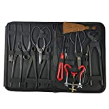 Ohyoulive 14Pcs Bonsai Tool Set Carbon Steel Extensive Cutter Scissors Kit for Garden Pruning