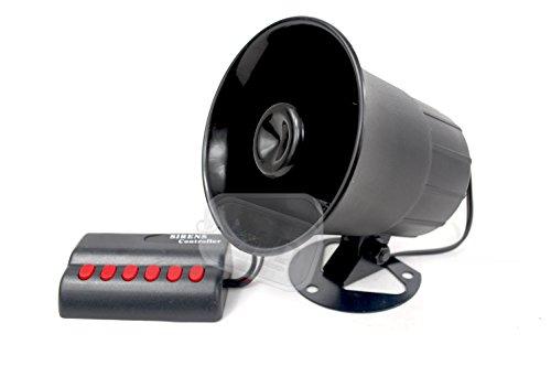 Preisvergleich Produktbild 12Volt Sirene mit 6verschiedenen Sounds sehr laut 12V