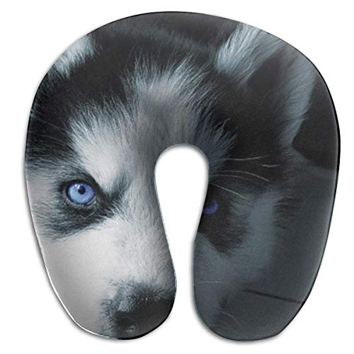 Nifdhkw Multifunctional Neck Pillow Puppy Husky U-Shaped Soft Pillows Portable for Sleeping Travel New3