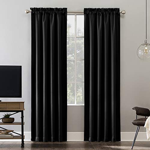 Rod Pocket Panel (Sun Zero Oslo Theater Grade Extreme 100% Blackout Rod Pocket Curtain Panel, 52