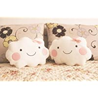 Primi Creative Cute Smiley Face nube cojines con lazo (color blanco)