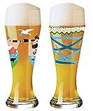 Ritzenhoff 1020231 Lot de 2 Verres à bière avec 5 couvercles de bière | 1020231...