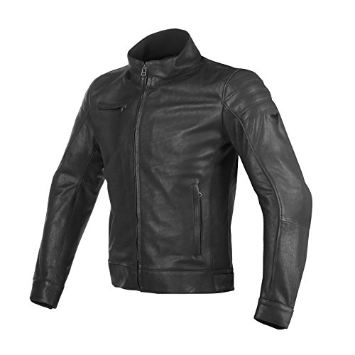 Dainese-bryan giacca da moto in pelle, nero, taglia 50