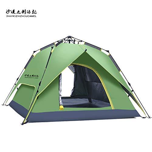 shuntian Épaissir Costume Tente de Chameau de Bateau en Plein air 2 Tente de Camping Solaire Automatique Ensemble, Double Punch Trois Tente hydraulique Bleu