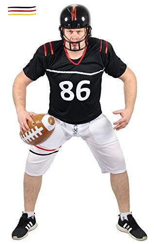 Quarterback Kostüm für Herren American Football Spieler Sportler Fasching Karneval Motto Party Größe S