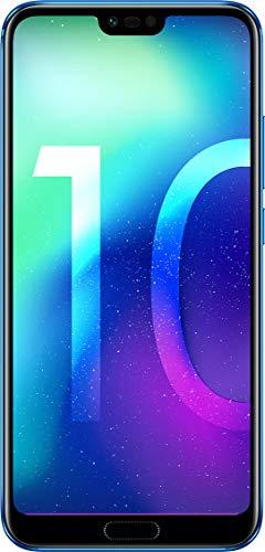 "Honor 10 Smartphone, Blu, 4G LTE, 128GB di memoria, 4GB RAM, Display 5.8"" FHD+, Doppia Fotocamera 24+16MP [Italia]"