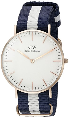 Daniel Wellington Damen-Armbanduhr Glasgow Analog Quarz Nylon DW00100031