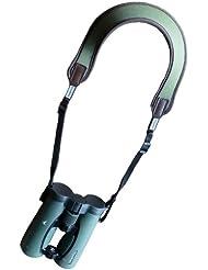 Niggeloh - Correa de neopreno para prismáticos, color verde