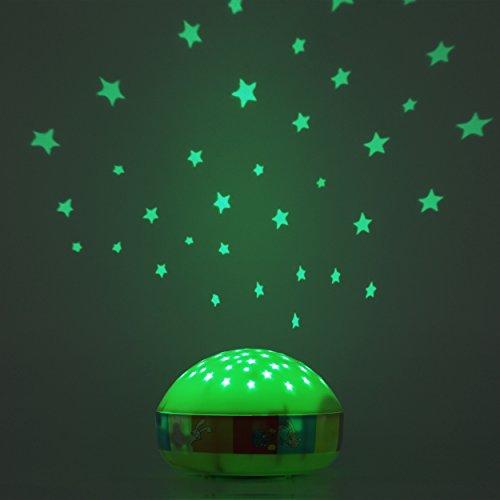 Einschlafhilfe mit Touch Sensor & Farbwechsel fürs Kinderzimmer - Sternenlampe ideal als Nachttischlampe Schlummerlicht Bettlampe für Baby & Kind - Touch, Sternenlampe, Sternenhimmel, Schlummerlicht, Nachttischlampe, Nachtlicht, Hase, Farbwechsel, Elefant, Bettlampe, ANSMANN