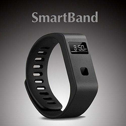 Peibo BL063m impermeabile intelligente braccialetto Bluetooth 4.0monitoraggio del sonno per iOS Android target, monitoraggio del sonno, Black