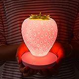 Creativa fragola luce notturna USB ricarica tocco dimming led camera da letto lampada da comodino piccola ragazza fresca romantico lampada da tavolo