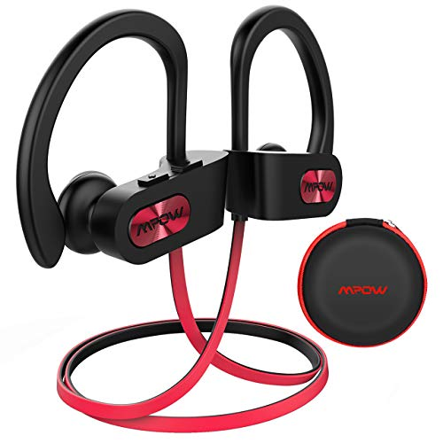 Cuffie Wireless IPX7, Mpow Flame Auricolari Bluetooth 4.1 Sport CVC 6.0, con Qualità Audio HD e Stabile, Cuffie Bluetooth Sport in-Ear con Eva Borsa per iPhone(IOS), Android - Rosso