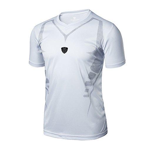 Laufende Yoga-shirt (FRAUIT Herren Männer Fitness T-Shirt Sport Trainings Laufendes Yoga Athletisches Hemd Spitzen Bluse Schnell trocknend Shirts mit V-Ausschnitt)