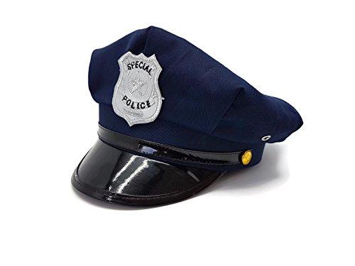 Bada Bing Polizeimütze Unisex Verkleiden Karneval dunkelblau Police (Reggae Shark Kostüm)