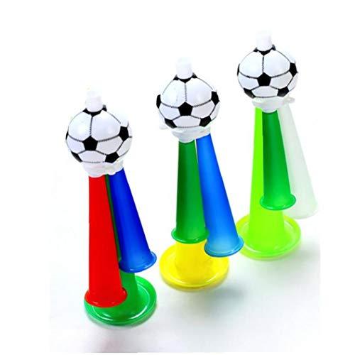 YZLSM 1pc Football Fans Plastik Horn Pfeife Partei Karneval Konzerte Lustige DREI Ton Trompete Spielzeug Kreuz