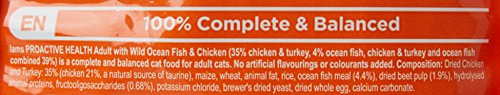 Iams for Vitality Cat Food with Ocean Fish for Adult Cats, 3 kg 4