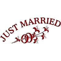 Autoaufkleber Hochzeit - Just Married mit Ringen