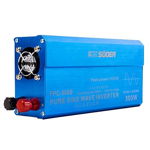 Wechselrichter 500 Watt Reine Sinus DC 24 V zu 220 V Solar Converter Für Den Heimgebrauch Auto ()