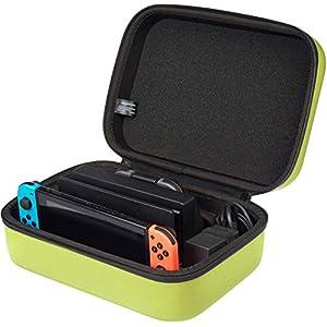 AmazonBasics – Reise- und Aufbewahrungsbox für die Nintendo Switch, Neongelb