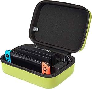 AmazonBasics - Custodia da viaggio per Nintendo Switch - Giallo neon