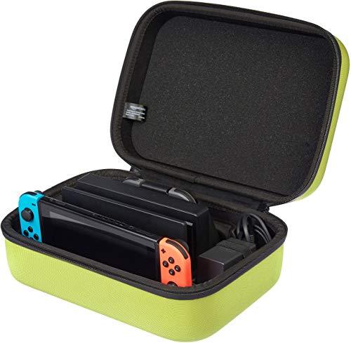AmazonBasics Hartschalen-Reise- und Aufbewahrungstasche für Nintendo Switch, 30,48 x 12,19 x 22,86 cm, Neongelb