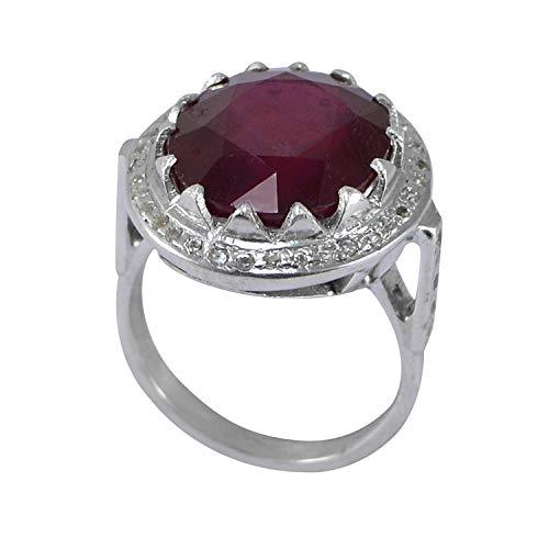 Silvestoo Ring Indischer Rubin Sterling-Silber 925 Größe 6,75 PG-155766 - 4-zoll-ring-binder
