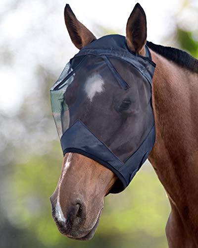 CareMaster Fliegenmaske UV Schutz Standard Schwarz Warmblut