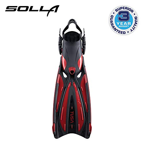 Preisvergleich Produktbild Tusa SF-22 Solla Open Heel Scuba Diving Fins - Metallic Dark Red - Medium