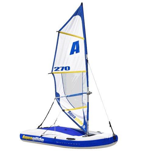 Aquaglide Schlauchboot Aufblasbares Kajak Kanu Tube Multisport 270 w. Roller Bag, 259x150x25 cm (LxBxH) Luftboot Für 1-3 Personen Aufblasbares Segelboot
