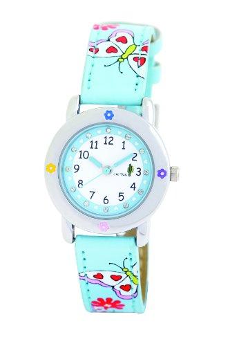 Cactus Mädchen-Armbanduhr Analog Kunststoff blau CAC-53-L04