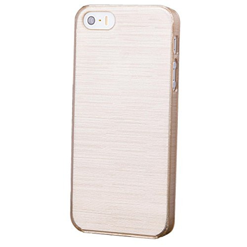Apple iPhone SE / 5S / 5 | iCues Hard Candy Case Gold | [Display Schutzfolie Inklusive]  Schutzhülle Hülle Cover Schutz (Candy Hard Cases)
