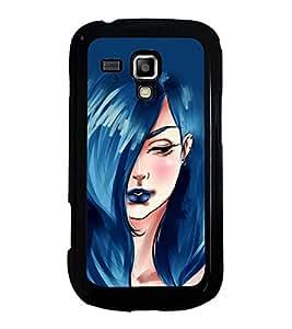 Printvisa Ultra Beautiful Girl with Blue Hair 2D Hard Polycarbonate Designer Back Case Cover ...