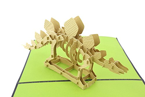 PopLife Greeting Cards Stegosaurus Dinosaurier 3D-Grußkarte Pop-up - alle Gelegenheit