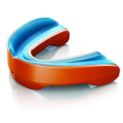 Shock Doctor Gel Nano Mundschutz/Mund- und Zahnschoner für Erwachsene (Erwachsene (ab 11 Jahren)) (Orange/Blau)